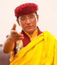 His Holiness the Gyalwang Drukpa speaking on Annual Drukpa Council